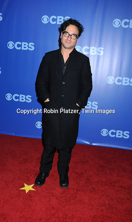 """Johnny Galecki of """"The Big Bang Theory""""  attending the CBS Network 2010 Upfront on May 19, 2010 at Lincoln Center in New York city."""