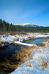 Winter view of Mt. Katahdin, Baxter State Park, Piscataquis County, Maine, USA