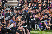 Occidental College's Commencement for the class of 2015 at the Remsen Bird Hillside Theater, Sunday, May 17, 2015.<br /> (Photo by Nick Harrington '17, Freelance photographer)