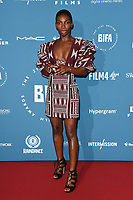 Michaela Coel<br /> arriving for the British Independent Film Awards 2018 at Old Billingsgate, London<br /> <br /> ©Ash Knotek  D3463  02/12/2018