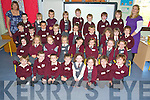 Pupils at Fossa National School pictured with their teachers Aoife Mulligan and Helen Moynihan during their first day at the school on Thursday...................................................................................................