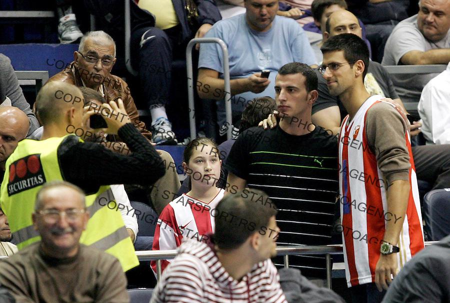 Kosarka ABA League season 2012-2013.Crvena Zvezda v Igokea.Novak Djokovic with the fans.Beograd, 19.10.2012..foto: Srdjan Stevanovic/Starsportphoto ©