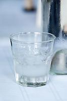 Glass of tsipouro. Tsipouro. Kir-Yianni Winery, Yianakohori, Naoussa, Macedonia, Greece