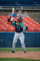 Lynchburg Hillcats pinch hitter Jorma Rodriguez (9) at bat during the first game of a doubleheader against the Frederick Keys on June 12, 2018 at Nymeo Field at Harry Grove Stadium in Frederick, Maryland.  Frederick defeated Lynchburg 2-1.  (Mike Janes/Four Seam Images)