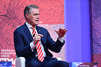 National Harbor, MD - February 28, 2019: Senator David Purdue (R-GA)  speaks at the annual Conservative Political Action Conference (CPAC) held at the Gaylord National Resort at National Harbor, MD February 28, 2019.  (Photo by Don Baxter/Media Images International)