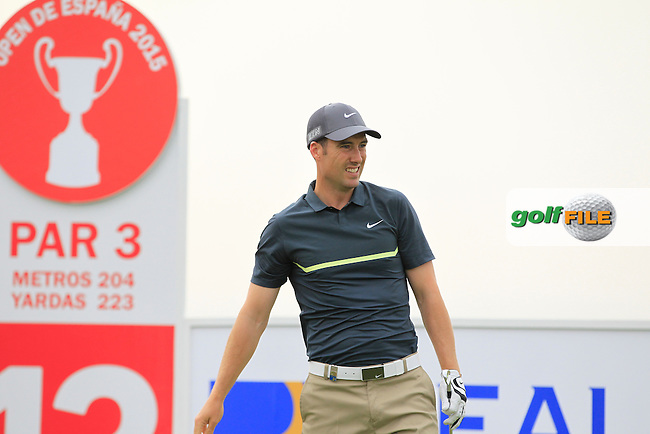 Ross Fisher (ENG) on the 13th tee during Round 1 of the Open de Espana  in Club de Golf el Prat, Barcelona on Thursday 14th May 2015.<br /> Picture:  Thos Caffrey / www.golffile.ie