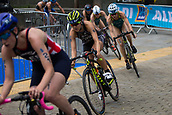June 11th 2017, Leeds, Yorkshire, England; ITU World Triathlon Leeds 2017; Yuko Takahashi competes in the cycling phase around Leeds city centre
