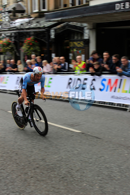 Yves Lampaert (BEL) in action during the Men Elite Individual Time Trial of the UCI World Championships 2019 running 54km from Northallerton to Harrogate, England. 25th September 2019.<br /> Picture: Andy Brady   Cyclefile<br /> <br /> All photos usage must carry mandatory copyright credit (© Cyclefile   Andy Brady)