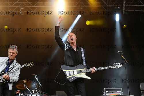 THUNDER - guitarist Ben Matthews and bassist Chris Childs - performing live n Day Two of the Ramblin' Man Fair at Mote Park Maidstone Kent UK - 24 Jul 2016.  Photo credit: Zaine Lewis/IconicPix