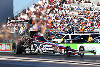 Sept. 22, 2013; Ennis, TX, USA: NHRA top fuel dragster driver Spencer Massey during the Fall Nationals at the Texas Motorplex. Mandatory Credit: Mark J. Rebilas-