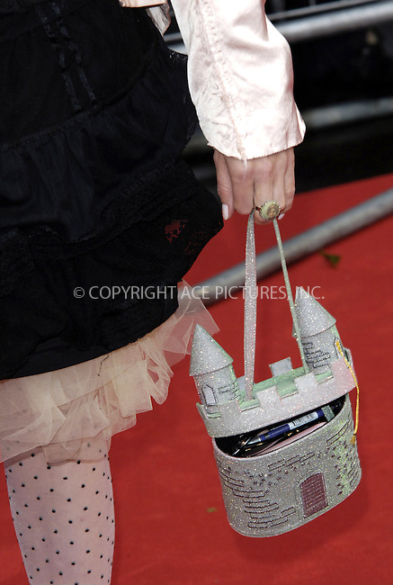 "WWW.ACEPIXS.COM . . . . .  ..... . . . . US SALES ONLY . . . . .....July 7 2009, London....Helena Bonham Carter's handbag at the World Premiere of ""Harry Potter And The Half-Blood Prince"" held at the Empire Leicester Square on July 7 2009 in London....Please byline: FAMOUS-ACE PICTURES... . . . .  ....Ace Pictures, Inc:  ..tel: (212) 243 8787 or (646) 769 0430..e-mail: info@acepixs.com..web: http://www.acepixs.com"