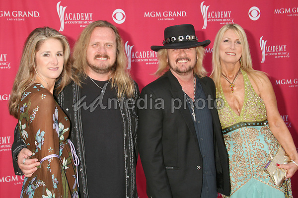 15 May 2007 - Las Vegas, Nevada - Ronnie and Donnie Van Zant of 'Van Zant' with wives. 42nd Annual Academy Of Country Music Awards held at the MGM Grand Garden Arena. Photo Credit: Byron Purvis/AdMedia