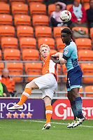 Anthony Stewart of Wycombe Wanderers during the Sky Bet League 2 match between Blackpool and Wycombe Wanderers at Bloomfield Road, Blackpool, England on 20 August 2016. Photo by James Williamson / PRiME Media Images.