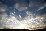 wide angle photograph by Paolo Diego Salcido-clouds in blue sky landscape