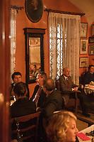 Europe/Voïvodie de Petite-Pologne/Cracovie: Restaurant Klezmer-Hois - La salle lors d'un concert de Musique klezmer, Musique juive traditionnelle