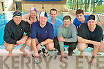 Pictured at the indoor fun triathlon held in the Killarney Sports and Leisure centre on Sunday were Diarmuid Leen, Mary Walsh, Denis McCarthy, Pat Sheehan, Killarney Sports and Leisure, Tadhg O'Connor, Denis McCarthy and Frank Ridgeway. The event consisted of a 250m swim, 10k cycle and 2k run.