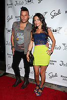 Johnny Donovan and  Christie Livoti attend Inked Magazine release party celebrating August issue, New York. July 17, 2012 &copy; Diego Corredor/MediaPunch Inc. /NortePhoto.com<br />