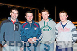 BOYS NIGHT: Enjoying a boys night out at the Kingdom Greyhound Stadium Night at the Dogs on Friday l-r: Tony Collins, Damien Ahern and Kevin and Liam Collins all from Rockchapel.