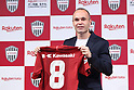 Vissel Kobe's new signing Andres Iniesta attends a press conference in Tokyo, Japan on Thursday, May 24, 2018. Barcelona legend playmaker announced he has signed with J-League first-division side Vissel Kobe. (Photo by Naoki Nishimura/AFLO SPORT)