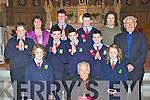 Curranes NS, Castleisland pupils who were confirmed by Bishop Bill Murphy in St Stephen and John's church on Tuesday front row l-r: Grainne Cremins, Katie McGaley. Second row: Sean Kelliher, Art O'Mahony, Jack Lynch, Darragh Foran, Monsignor Dan O'Riordan. Back row: Elizabeth Sweeney teacher, Jack Curran, Michael Costello and Cait Daly Principal.