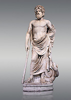 "Statue of Esculape or Asclepius - a second century AD Roman sculpture. Asclepius represents the healing aspect of the medical arts, his daughters included Hygieia, ""Hygiene"" the goddess/personification of health, cleanliness, and sanitation as well as Iaso, the goddess of recuperation from illness and Aceso the goddess of the healing process.  The Albani Collection, Inv No.  Ma 929, Louvre Museum, Paris."