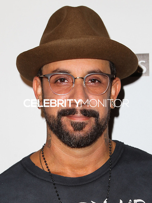 HOLLYWOOD, LOS ANGELES, CA, USA - SEPTEMBER 18: AJ McLean arrives at the 'Get Lucky For Lupus' 6th Annual Poker Tournament held at Avalon on September 18, 2014 in Hollywood, Los Angeles, California, United States. (Photo by Celebrity Monitor)