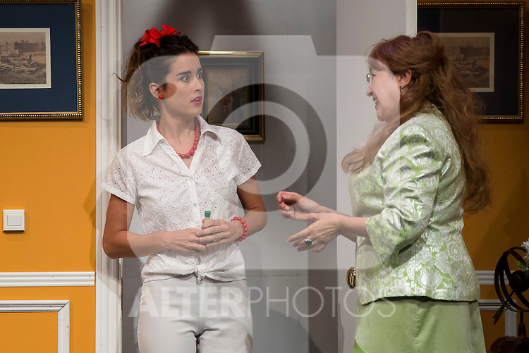 Diana Irazaba and Estrella Blanco at &quot;Usted puede ser un asesino&quot; Theater play in Mu&ntilde;oz Seca Theater, Madrid, Spain, September 07, 2015. <br /> (ALTERPHOTOS/BorjaB.Hojas)