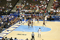20 March 2006: Jillian Harmon during Stanford's 88-70 win over Florida State in the second round of the NCAA Women's Basketball championships at the Pepsi Center in Denver, CO. Candice Wiggins, Brooke Smith and Krista Rappahahn look on.