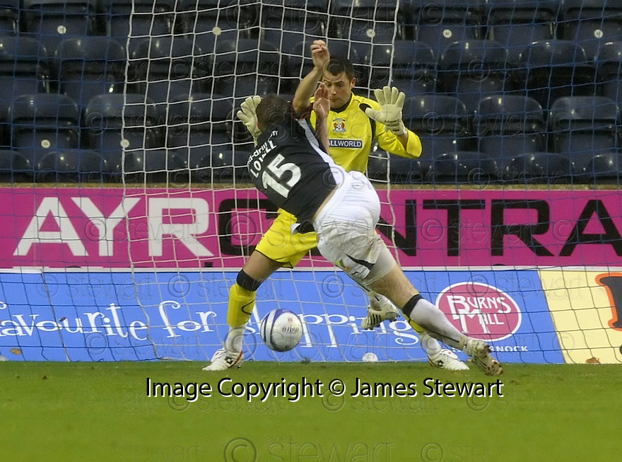25/10/2008  Copyright Pic: James Stewart.File Name : sct_jspa01_kilmarnock_v_falkirk.STEVE LOVELL SCORES FALKIRK'S FIRST.James Stewart Photo Agency 19 Carronlea Drive, Falkirk. FK2 8DN      Vat Reg No. 607 6932 25.Studio      : +44 (0)1324 611191 .Mobile      : +44 (0)7721 416997.E-mail  :  jim@jspa.co.uk.If you require further information then contact Jim Stewart on any of the numbers above........