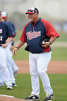 Manager Ron Gardenhire (35) of the Minnesota Twins during practice on February 25, 2014 at Hammond Stadium in Fort Myers, Florida.  (Mike Janes Photography)