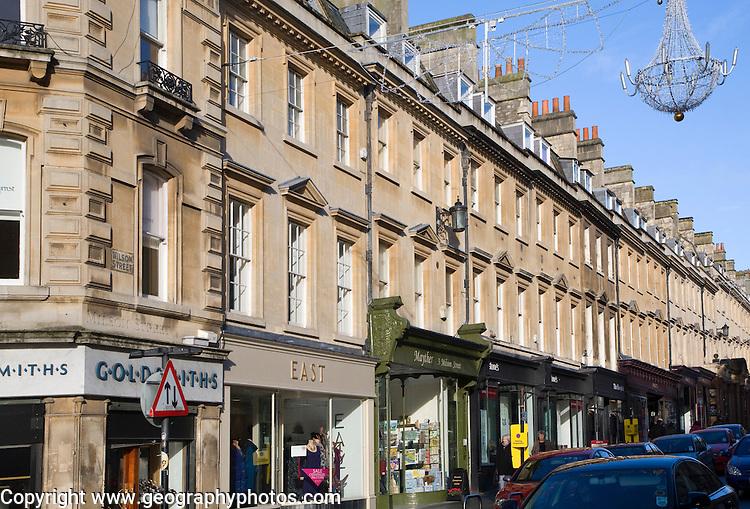 Shops on Milsom Street, Bath, Somerset, England
