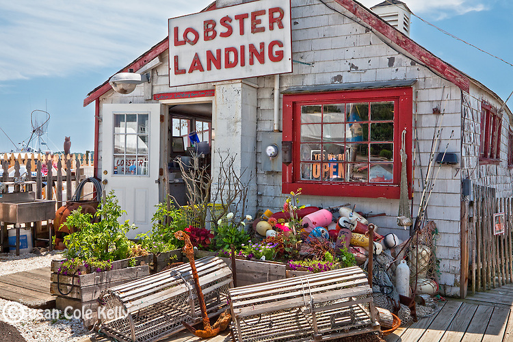 Lobster Landing at the town pier in Clinton, CT, USA