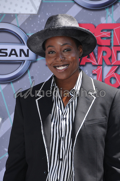 26 June 2016 - Los Angeles. Tish Hyman. Arrivals for the 2016 BET Awards held at the Microsoft Theater. Photo Credit: Birdie Thompson/AdMedia