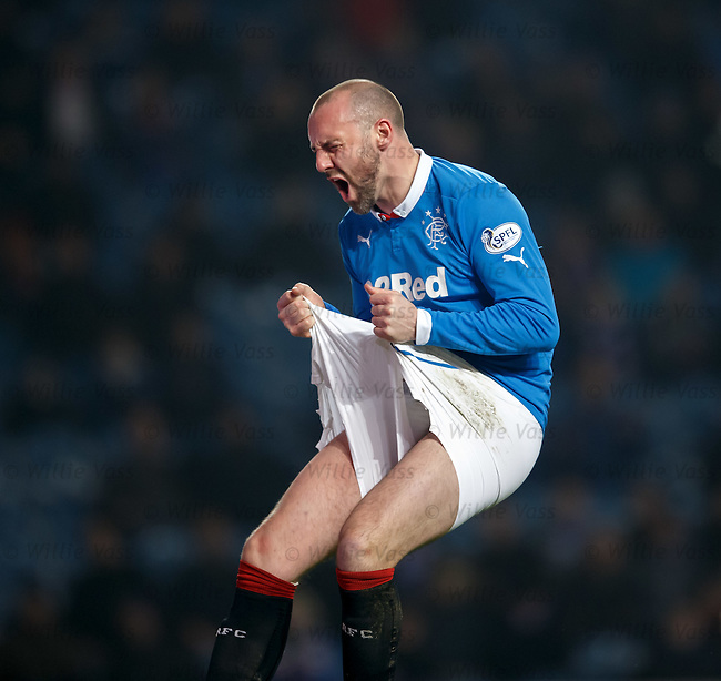 Kris Boyd shows his agony after failing to score in front of goal