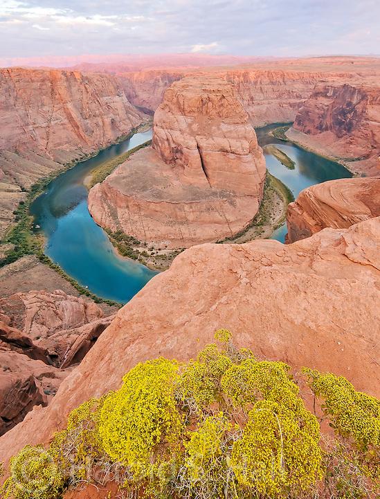 Horseshoe Bend in Arizona is an overlook viewing the Colorado River far below.
