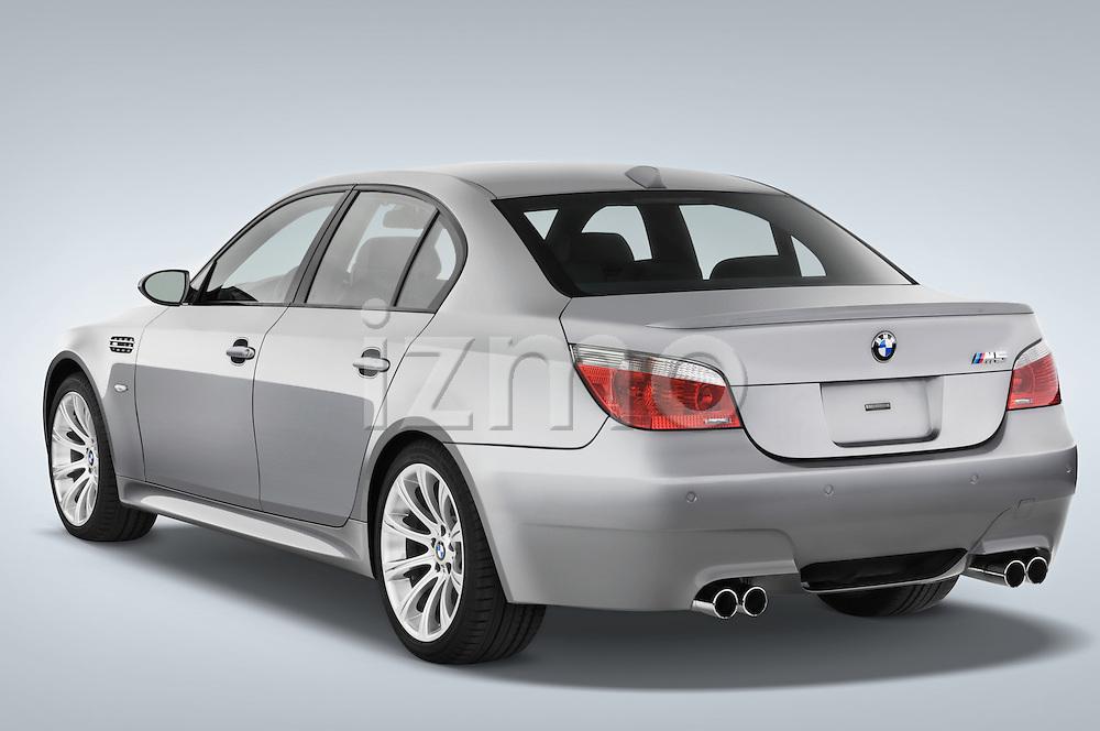 Rear three quarter view of a 2008 BMW M5 Sedan