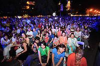 El grupo de música español, Presuntos Implicados, durante su presentación en las Fiestas del Pitic de Hermosillo Sonora.
