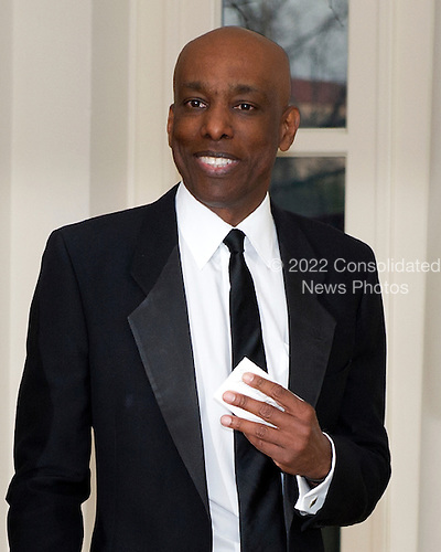 Dr. Jean-Phillipe Austin, one of United States President Barack Obama's biggest campaign fundraisers, arrives for the Official Dinner in honor of Prime Minister David Cameron of Great Britain and his wife, Samantha, at the White House in Washington, D.C. on Tuesday, March 14, 2012..Credit: Ron Sachs / CNP.(RESTRICTION: NO New York or New Jersey Newspapers or newspapers within a 75 mile radius of New York City)
