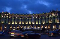 Michael McCollum.6/24/11.A city scene in Rome at dusk.