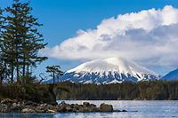 Mount Edgecumbe on Kruzof island, southeast, Alaska