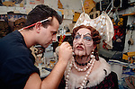 Kevin Richmond as The Dutchess being made up