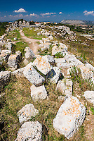 Eurialo Casle (Castello Eurialo), ruins of a Greek Castle near Syracuse (Siracusa), Sicily, Italy, Europe. This is a photo of Eurialo Casle (Castello Eurialo), ruins of a Greek Castle near Syracuse (Siracusa), Sicily, Italy, Europe.