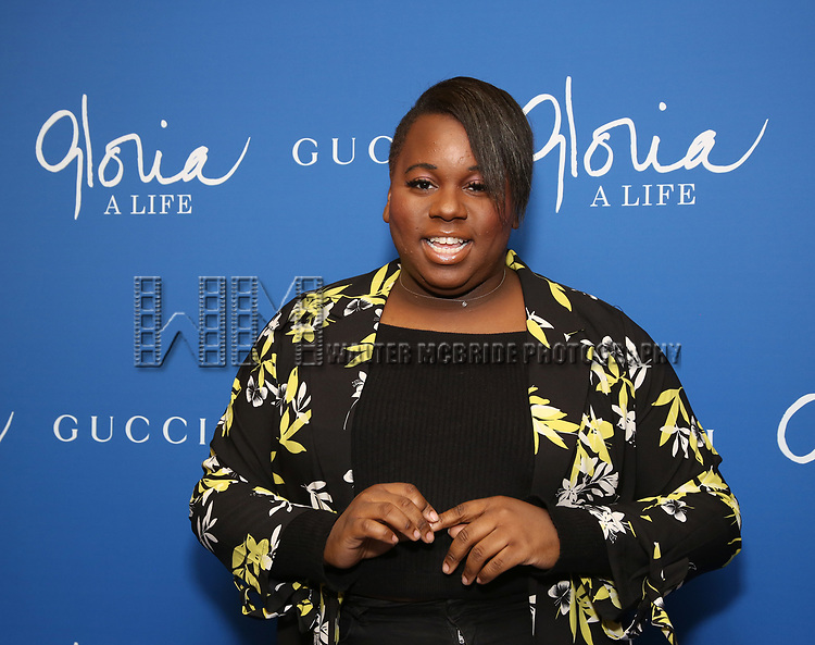 """Alex Newell attends the Opening Night Performance of """"Gloria: A Life"""" on October 18, 2018 at the Daryl Roth Theatre in New York City."""