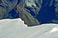 Snow cornice in the Swiss Alps