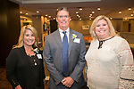 Waterbury, CT-17, October 2017-101717CM09 Social moments, from left to right board members Gina Chiarella, Joe Kinsella Esq. and Kellie Jandreau are photographed during the Easter Seals annual dinner at the Courtyard by Marriott in Waterbury on on Tuesday.   Christopher Massa Republican-American