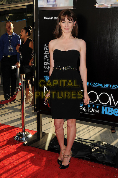 "Emily Mortimer.HBO's ""The Newsroom"" Los Angeles Premiere held at The Cinerama Dome, Hollywood, California, USA..June 20th, 2012.full length black strapless dress belt peplum .CAP/ADM/BP.©Byron Purvis/AdMedia/Capital Pictures."