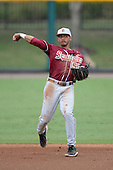 Florida State Seminoles third baseman Jose Brizuela (53) during a game against the South Florida Bulls on March 5, 2014 at Red McEwen Field in Tampa, Florida.  Florida State defeated South Florida 4-1.  (Copyright Mike Janes Photography)
