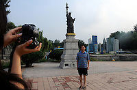 The Statue of Liberty at World Park, Beijing. The park displays about 100 tourist attractions in a scaled-down version from nearly 50 countries around the world, including the Tower Bridge in London, the Eiffel tower in Paris, pyramids in Egypt, etc..16 Aug 2008