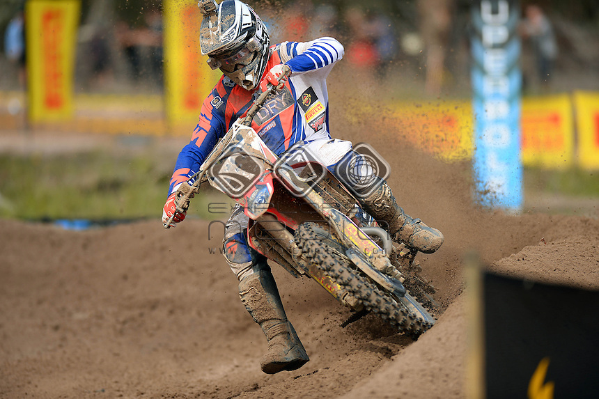 Gareth Swanepoel / Carlton Dry Honda<br /> Monster Energy MX Nationals / MX1<br /> 2013 Motorcross Championships<br /> Round 7 / Hervey Bay QLD<br /> Sunday July 28th 2013<br /> &copy; Sport the library/Jeff Crow