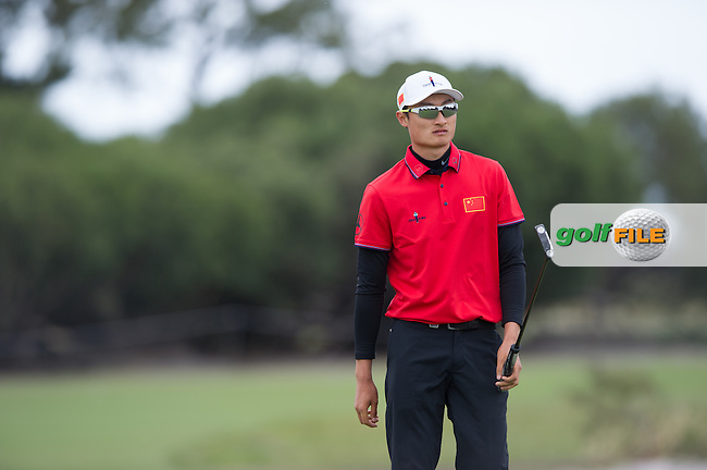 Li Haotong (CHN) during the ISPS Handa World Cup of Golf, from Kingston heath Golf Club, Melbourne Australia. 24/11/2016<br /> Picture: Golffile | Anthony Powter<br /> <br /> <br /> All photo usage must carry mandatory copyright credit (&copy; Golffile | Anthony Powter)